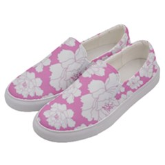 Beauty Flower Floral Pink Men s Canvas Slip Ons by Alisyart