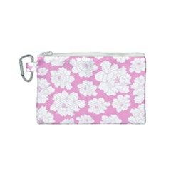 Beauty Flower Floral Pink Canvas Cosmetic Bag (small) by Alisyart
