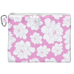 Beauty Flower Floral Pink Canvas Cosmetic Bag (xxl) by Alisyart
