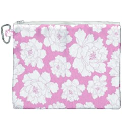 Beauty Flower Floral Pink Canvas Cosmetic Bag (xxxl) by Alisyart