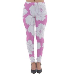 Beauty Flower Floral Pink Lightweight Velour Leggings
