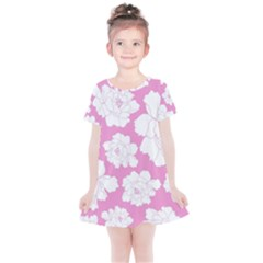 Beauty Flower Floral Pink Kids  Simple Cotton Dress