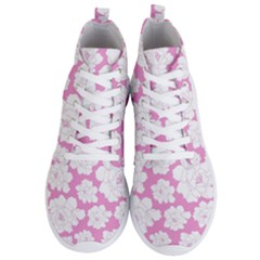 Beauty Flower Floral Pink Men s Lightweight High Top Sneakers