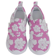 Beauty Flower Floral Pink Velcro Strap Shoes