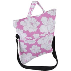 Beauty Flower Floral Pink Fold Over Handle Tote Bag