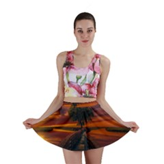 Wonderful Fantasy Sunset Wallpaper Tree Mini Skirt