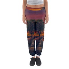 Wonderful Fantasy Sunset Wallpaper Tree Women s Jogger Sweatpants