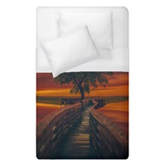 Wonderful Fantasy Sunset Wallpaper Tree Duvet Cover (single Size)