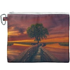 Wonderful Fantasy Sunset Wallpaper Tree Canvas Cosmetic Bag (xxxl)