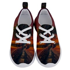 Wonderful Fantasy Sunset Wallpaper Tree Running Shoes