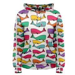Fish Whale Cute Animals Women s Pullover Hoodie