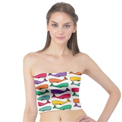 Fish Whale Cute Animals Tube Top by Alisyart