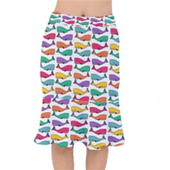 Fish Whale Cute Animals Mermaid Skirt by Alisyart