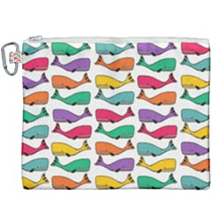 Fish Whale Cute Animals Canvas Cosmetic Bag (xxxl)
