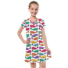Fish Whale Cute Animals Kids  Cross Web Dress