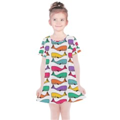 Fish Whale Cute Animals Kids  Simple Cotton Dress