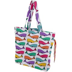 Fish Whale Cute Animals Drawstring Tote Bag