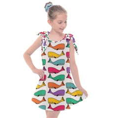 Fish Whale Cute Animals Kids  Tie Up Tunic Dress