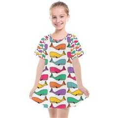 Fish Whale Cute Animals Kids  Smock Dress