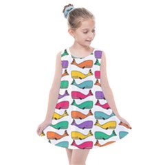 Fish Whale Cute Animals Kids  Summer Dress