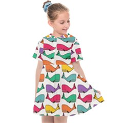 Fish Whale Cute Animals Kids  Sailor Dress
