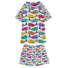 Fish Whale Cute Animals Kids  Swim Tee And Shorts Set