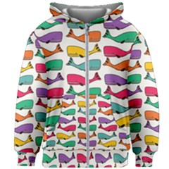 Fish Whale Cute Animals Kids Zipper Hoodie Without Drawstring