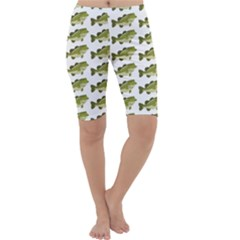 Green Small Fish Water Cropped Leggings