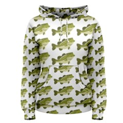 Green Small Fish Water Women s Pullover Hoodie