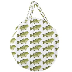 Green Small Fish Water Giant Round Zipper Tote by Alisyart