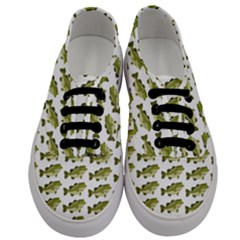 Green Small Fish Water Men s Classic Low Top Sneakers