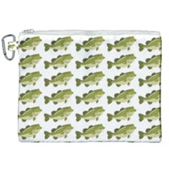 Green Small Fish Water Canvas Cosmetic Bag (xxl)