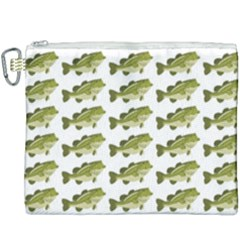 Green Small Fish Water Canvas Cosmetic Bag (xxxl)