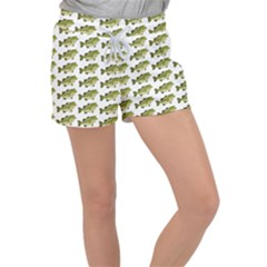 Green Small Fish Water Women s Velour Lounge Shorts