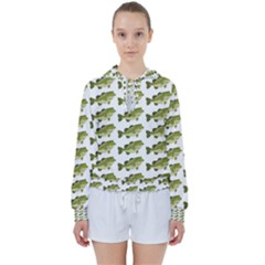Green Small Fish Water Women s Tie Up Sweat