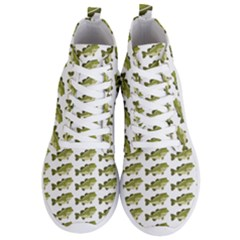 Green Small Fish Water Men s Lightweight High Top Sneakers
