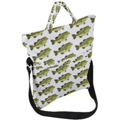 Green Small Fish Water Fold Over Handle Tote Bag