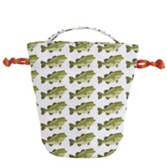 Green Small Fish Water Drawstring Bucket Bag