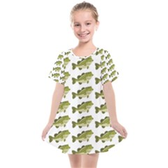 Green Small Fish Water Kids  Smock Dress