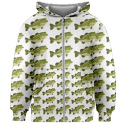 Green Small Fish Water Kids Zipper Hoodie Without Drawstring