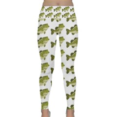 Green Small Fish Water Lightweight Velour Classic Yoga Leggings