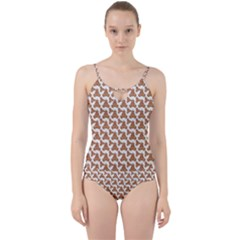 Babby Gingerbread Cut Out Top Tankini Set