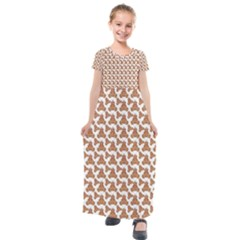 Babby Gingerbread Kids  Short Sleeve Maxi Dress