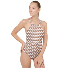 Babby Gingerbread High Neck One Piece Swimsuit
