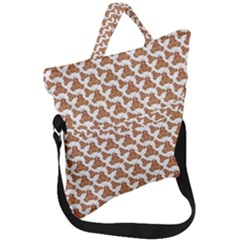 Babby Gingerbread Fold Over Handle Tote Bag