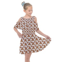 Babby Gingerbread Kids  Shoulder Cutout Chiffon Dress