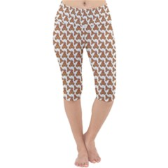 Babby Gingerbread Lightweight Velour Cropped Yoga Leggings