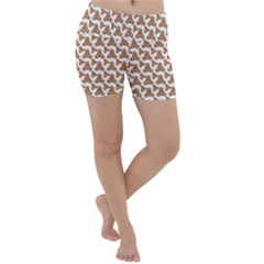 Babby Gingerbread Lightweight Velour Yoga Shorts