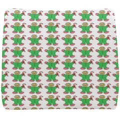 Gingerbread Men Seamless Green Background Seat Cushion by Alisyart