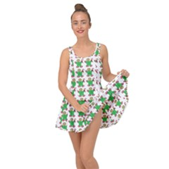 Gingerbread Men Seamless Green Background Inside Out Casual Dress
